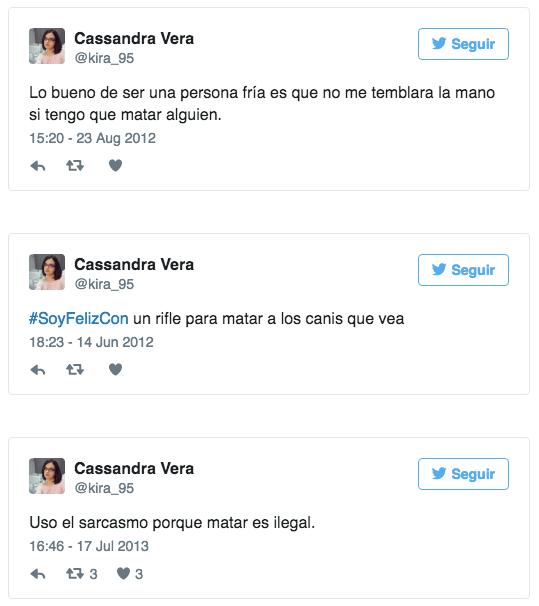 Image result for tweets de cassandra vera