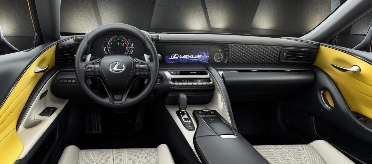 Lexus LC 500h Yellow Edition-interior
