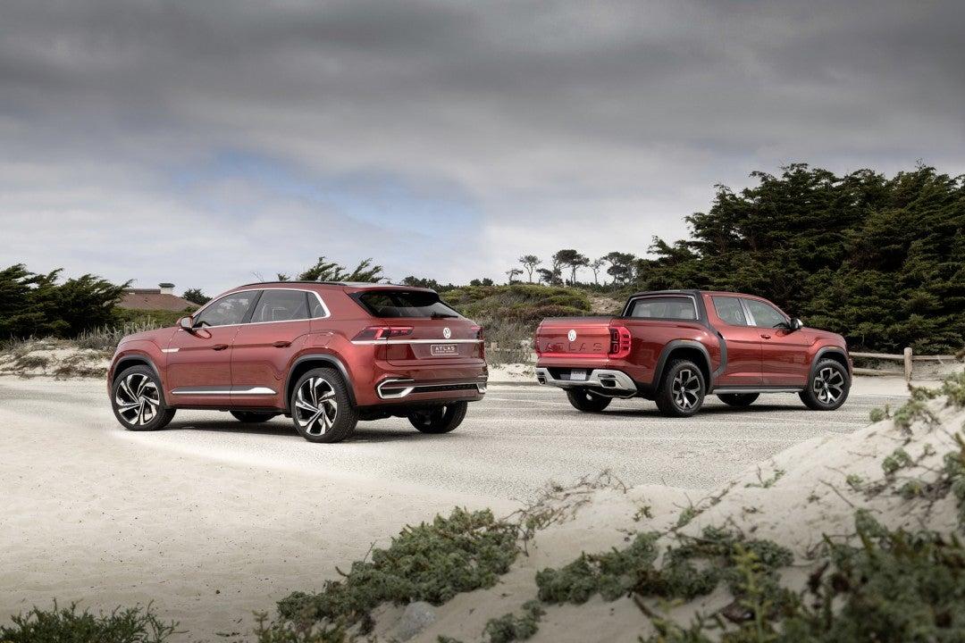 Volkswagen muestra los prototipos Atlas Cross Sport y Atlas Tanoak Concept en California