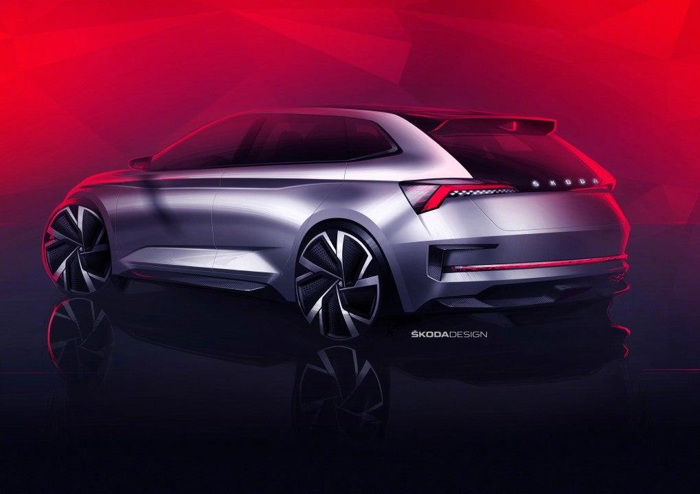 Škoda Vision RS-trasera