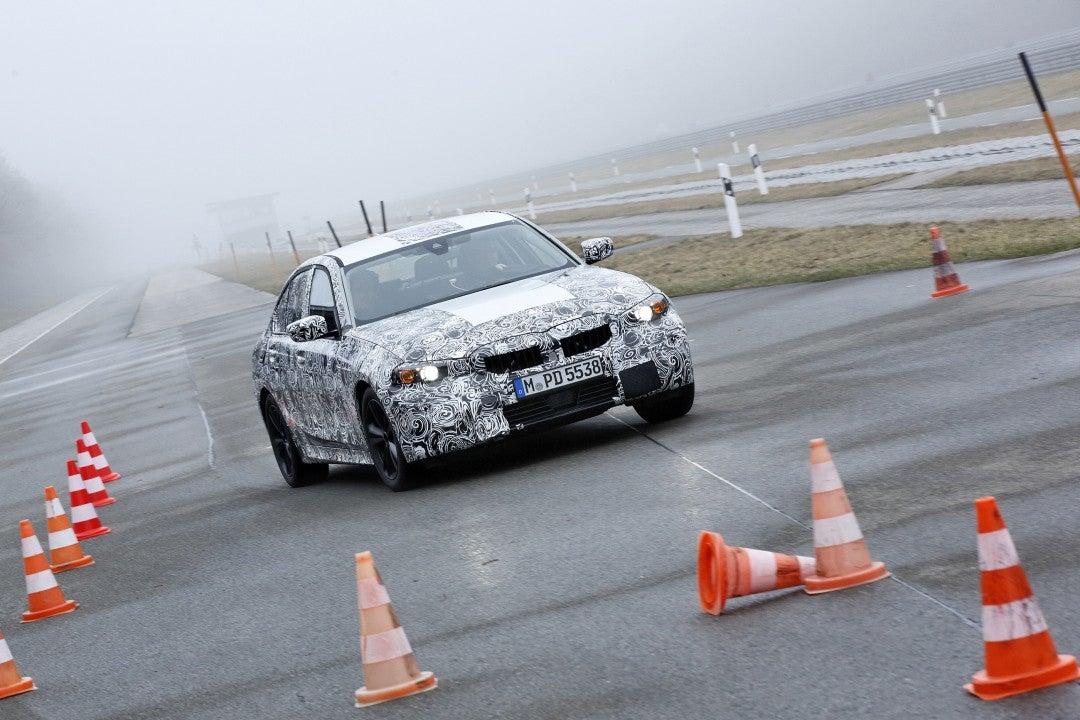 Nuevo BMW Serie 3 Sedan en campo de pruebas en Aschheim