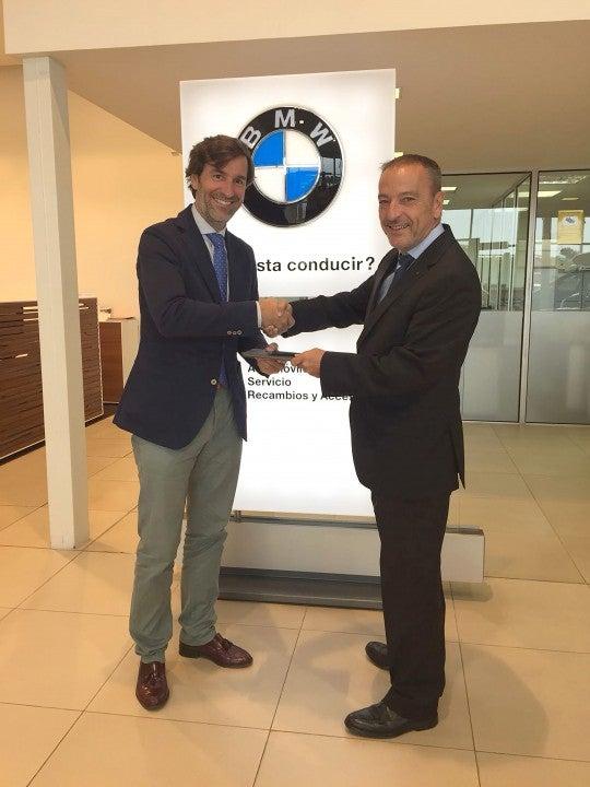 osé Suero, Delegado de Gestión y Planificación de Red de BMW España, junto a Jaime Gallart, Gerente de BMW Engasa.