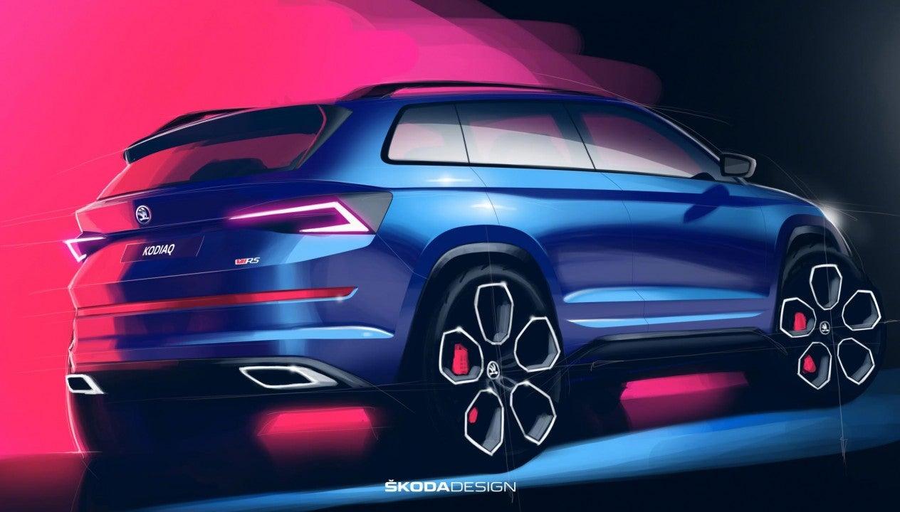 ŠKODA muestra un avance del diseño del nuevo KODIAQ RS