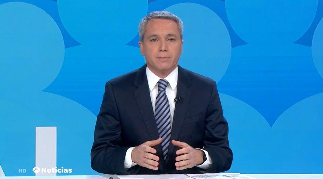 Vicente Vallés durante el Informativo del martes 4 de enero de 2020