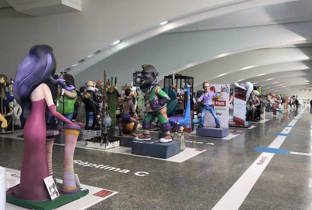 Exposición del Ninot 2020 en Valencia.
