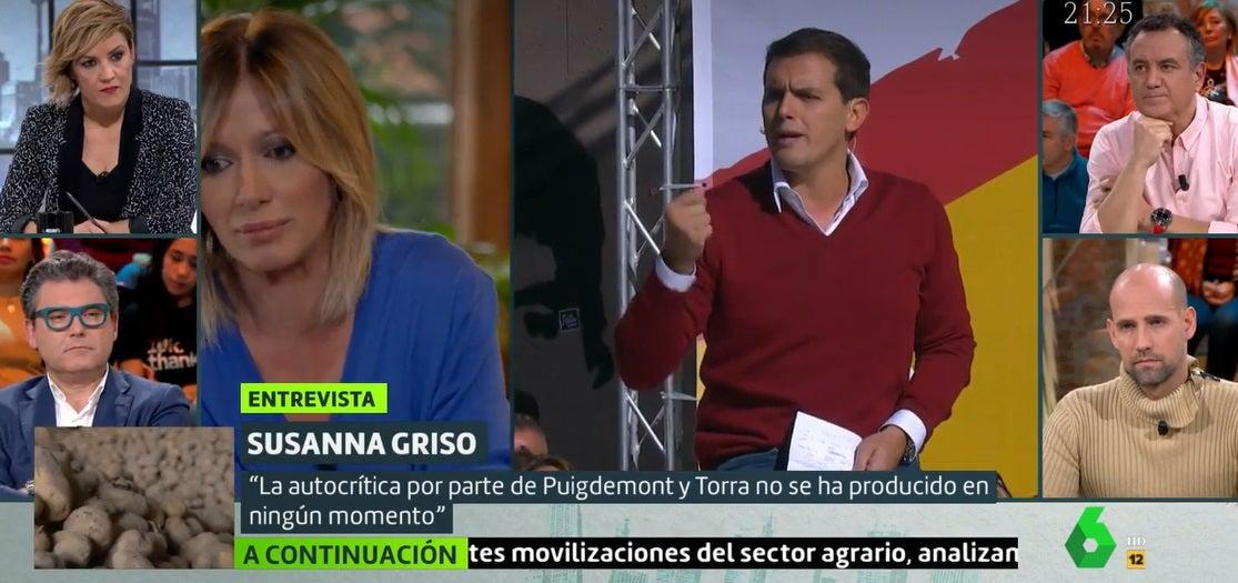Susanna Griso durante su entrevista con Cristina Pardo