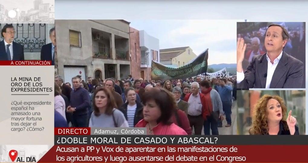 Cristina Fallarás y Carlos Cuesta en