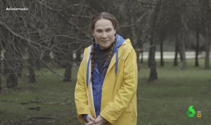 Joaquín Reyes imitando a Greta Thunberg
