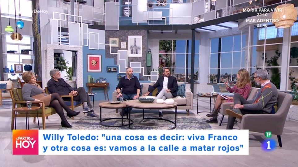 Máximo Huerta y sus colaboradores en