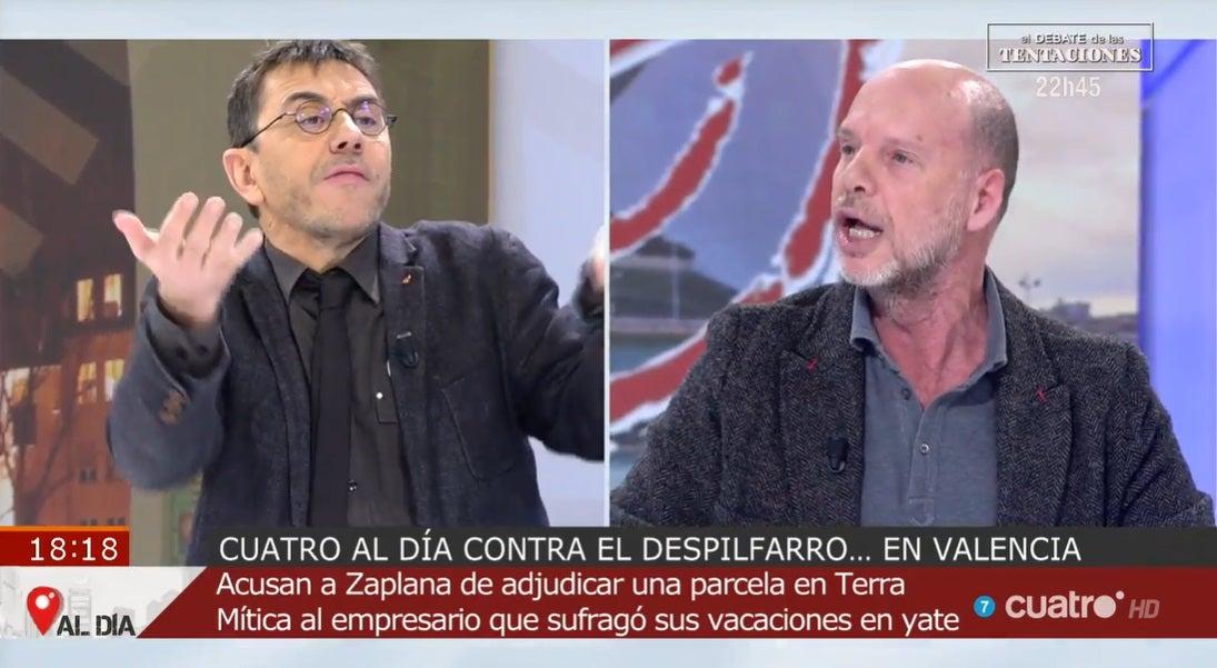 Juan Carlos Monedero y Jaime González en