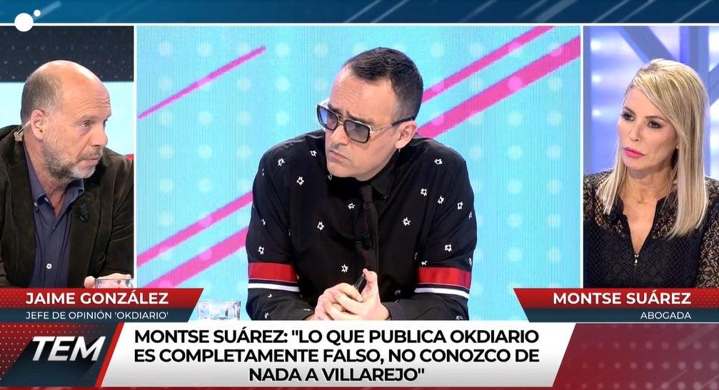 Jaime González, Risto Mejide y Montse Suárez en