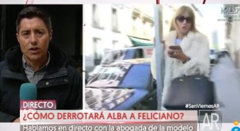 Alba Carrillo se choca contra una farola