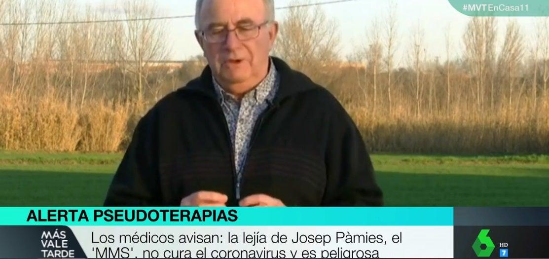 Josep Pàmies, el curandero de la lejía