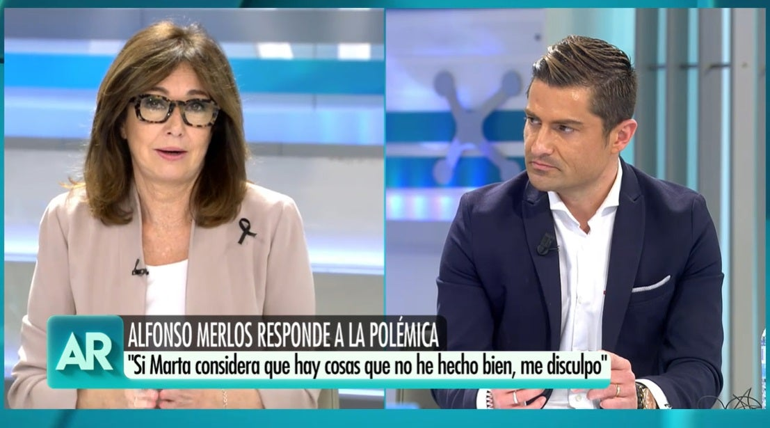 Ana Rosa Quintana y Alfonso Merlos