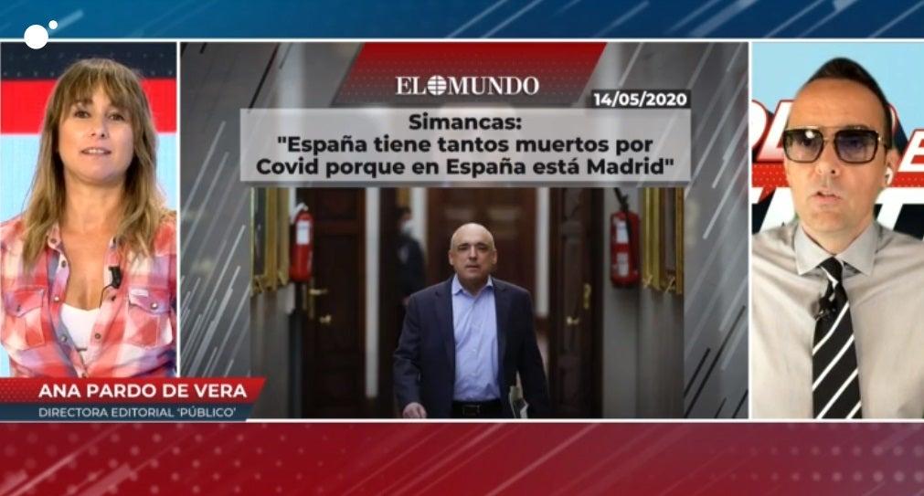 Ana Pardo de Vera y Risto Mejide en Cuatro