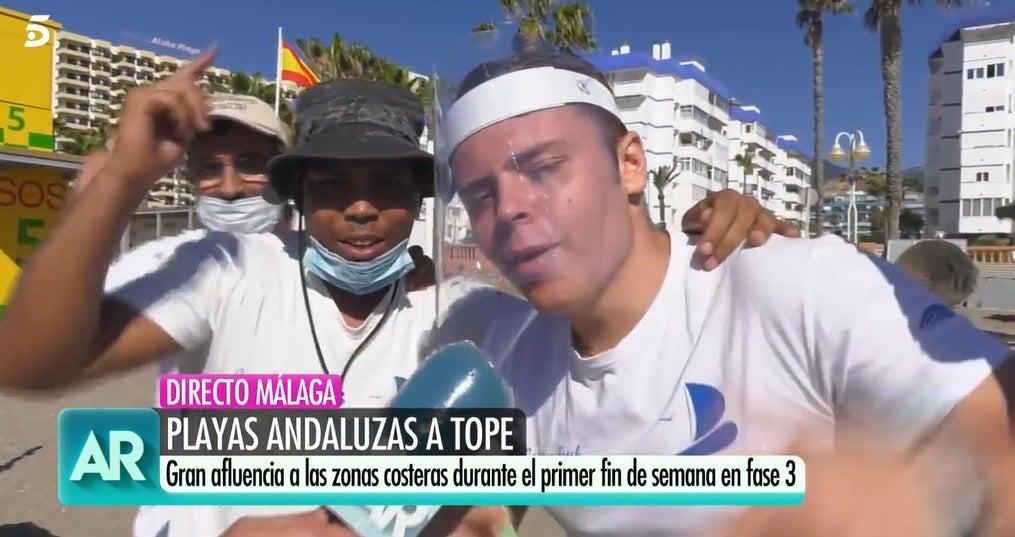 Los trabajadores de la playa en Málaga