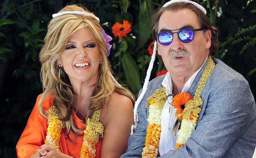 Lydia Lozano y su marido, Charly