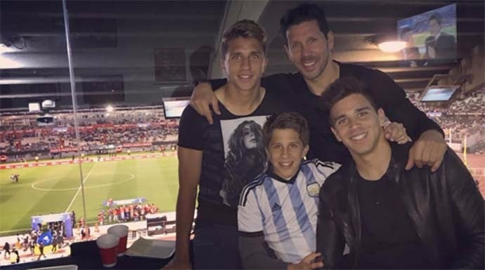 Atlético Madrid se lleva al hijo menor de Simeone