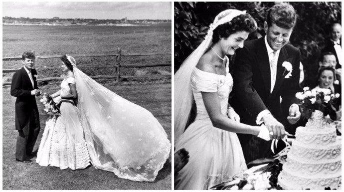 el vestido de novia de jackie kennedy cumple 63 años como icono de
