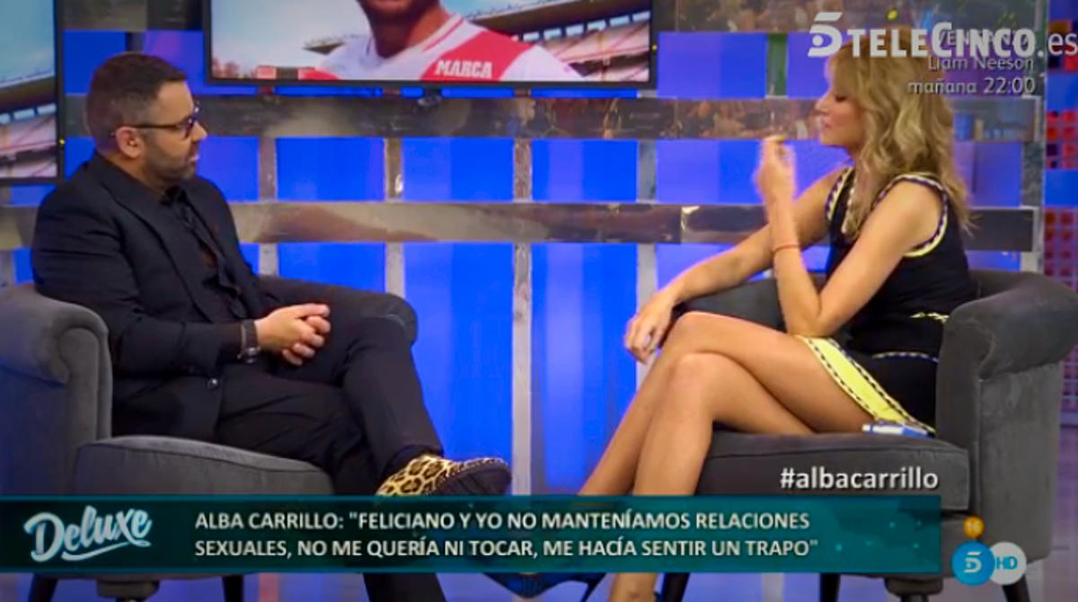Alba Carrillo Altura jorge javier vázquez le saca a alba carrillo su peor temor