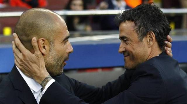 Guardiola y Luis Enrique, unidos en su defensa del independentismo catalán.