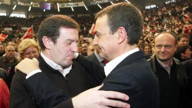 Zapatero, en un mitin junto al exsecretario general del PSPV, Joan Ignasi Pla.