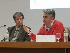 Vicent Climent y Pepe Morgan en un acto de Juristes en ICAV