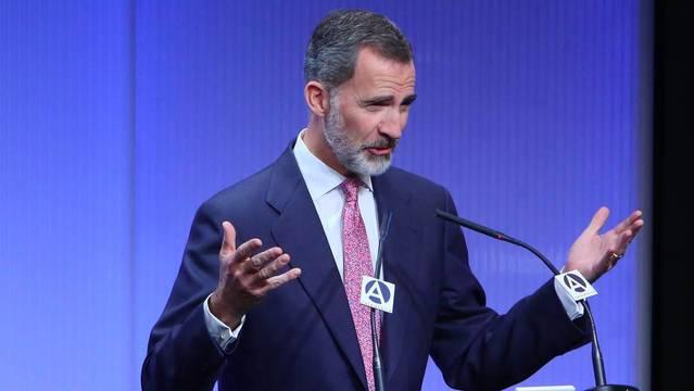 El Rey, este jueves, en un acto sobre el 40 aniversario de la Diplomacia Española.
