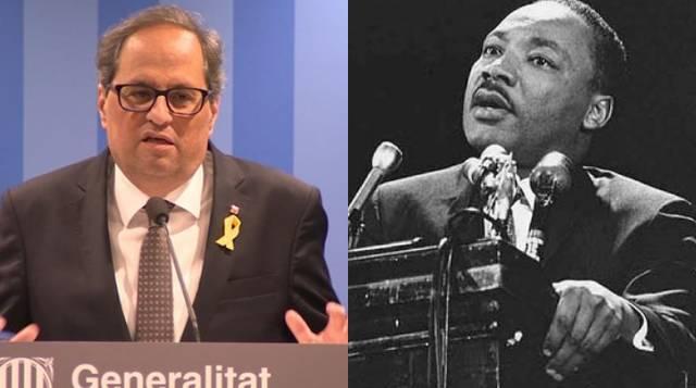 El centro Luther King pisotea su memoria invitando a Quim Torra a dar una charla