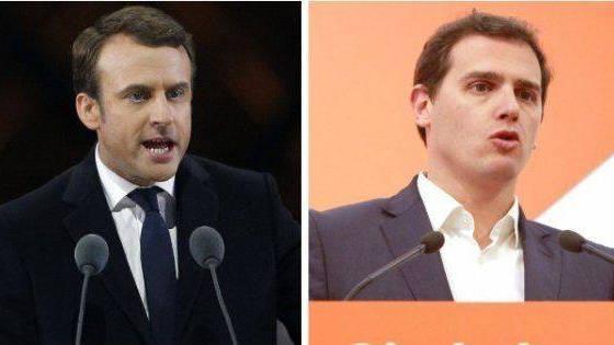 Macron se permite dar un tirón de orejas a Rivera por entenderse con Vox