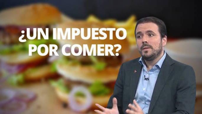 Garzón pretende inventarse un «impuesto a la hamburguesa» para hacer más caja