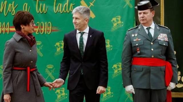 María Gámez, este miércoles en su toma posesión como directora de la Guardia Civil.