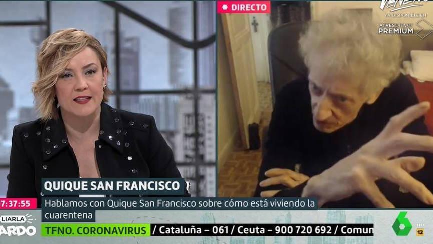 Un Quique San Francisco desatado contra el Gobierno arrolla a Cristina Pardo