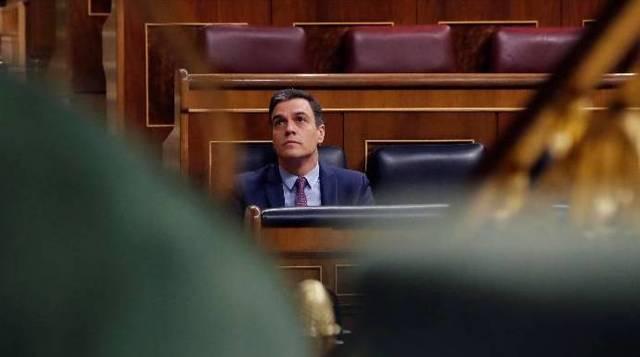 Pedro Sánchez, este miércoles en el Congreso.