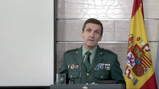 El general José Manuel Santiago, jefe del Estado Mayor de la Guardia Civil.
