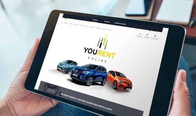 El nuevo renting  de Renault para particulares,  ´´You Rent Online´´, permite contratar coche desde casa