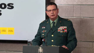 El director adjunto operativo de la Guardia Civil, Laurentino Ceña