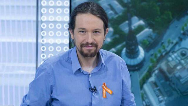 Pablo Iglesias, en otra visita a RTVE