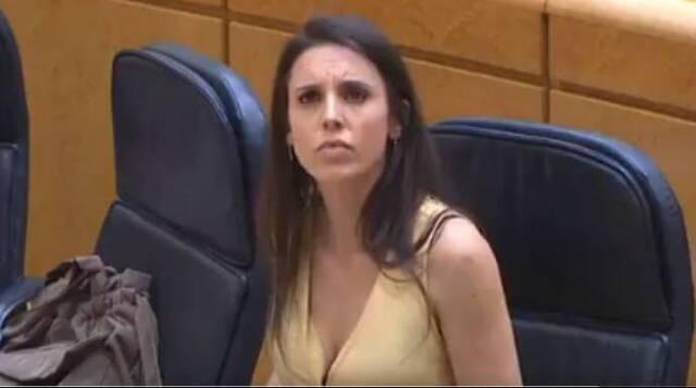 La ministra Montero, este martes en el Senado.