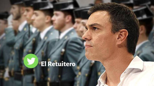 Pedro Sánchez, ante la Guardia Civil