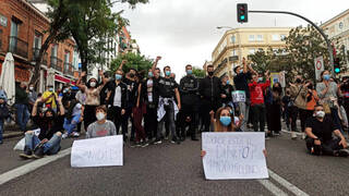 Protesta en Villa de Vallecas.
