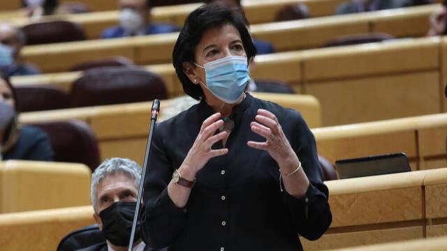 La ministra Celaá en una imagen de archivo en el Senado.