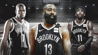Kevin Durant, James Harden y Kyrie Irving