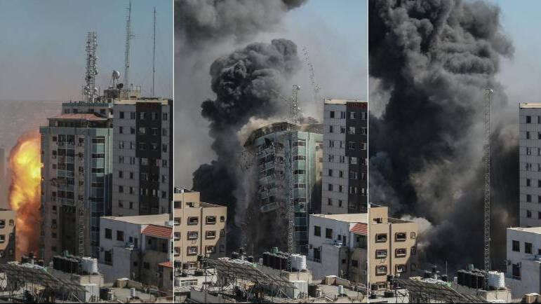 Conmoción por el ataque de Israel a las oficinas de varios medios de comunicación