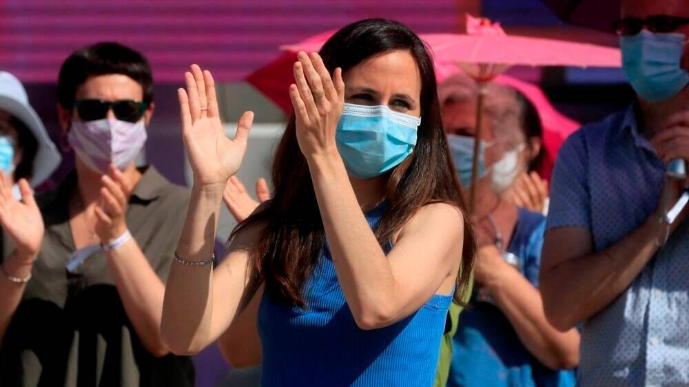 Ione Belarra arrasa en la asamblea de Podemos entre ovaciones a Iglesias