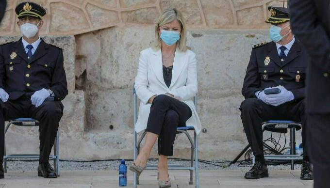 La consellera de Justicia, Gabriela Bravo, asiste al Día de la Policía adscrita a la Generalitat